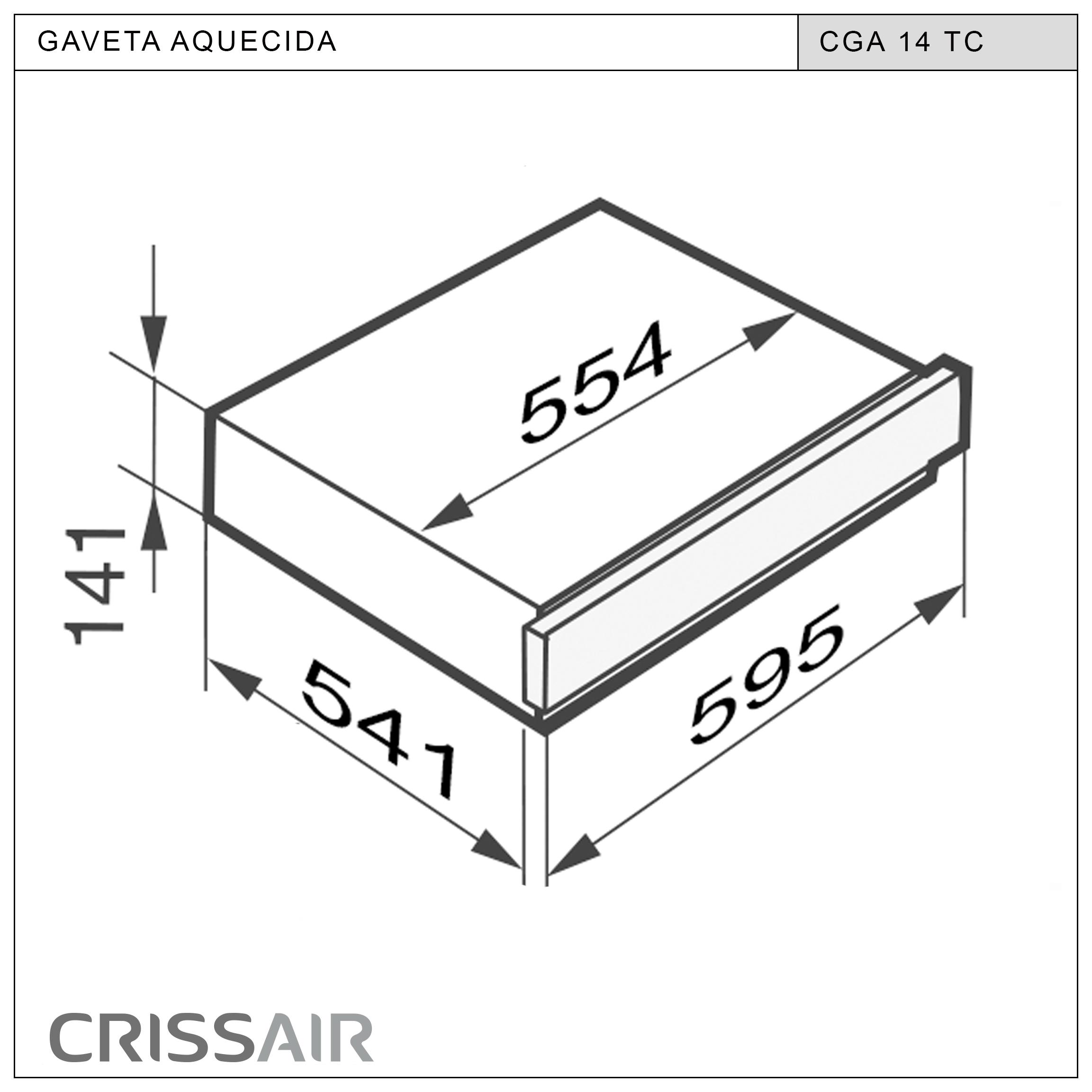GAVETA AQUECIDA CGA 14 TC
