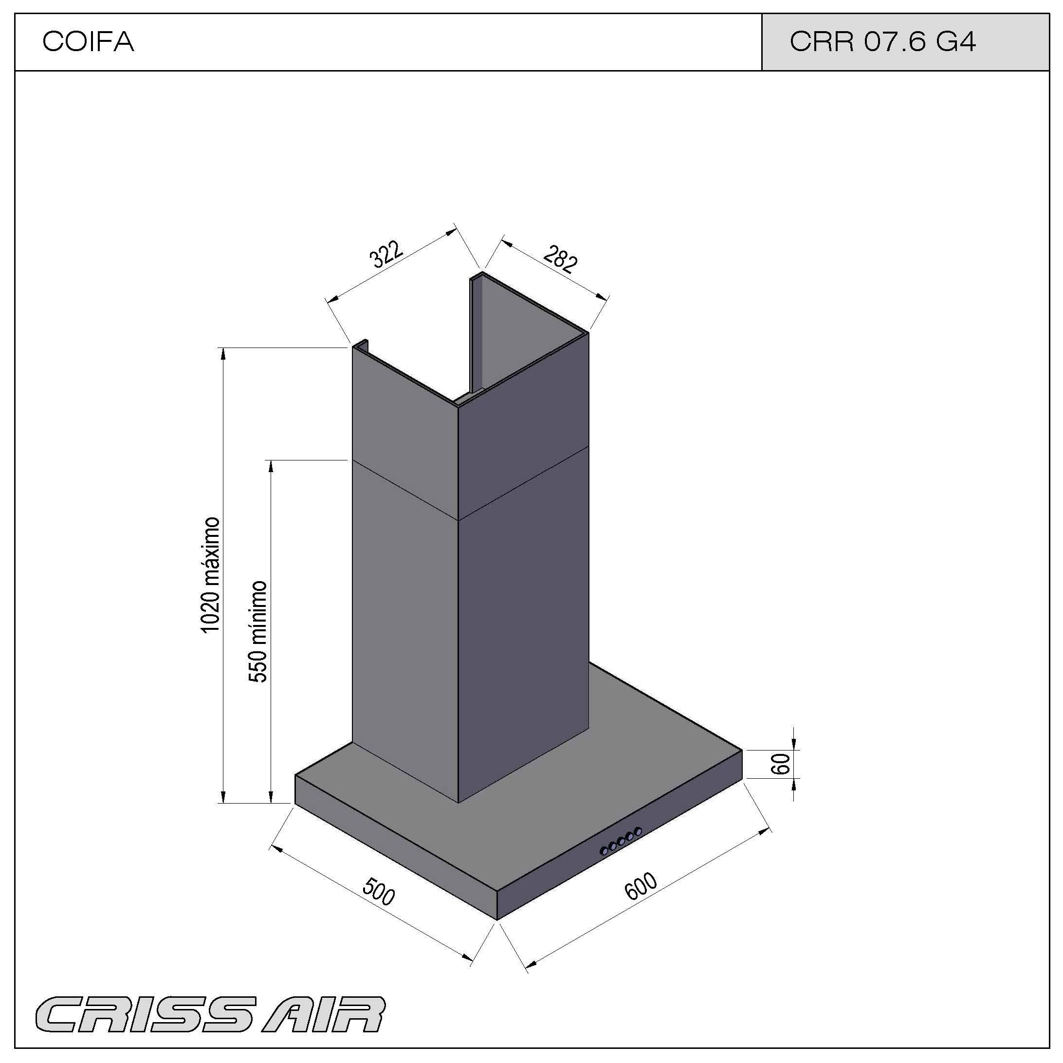 Coifa de Parede CRR 07.6 G4