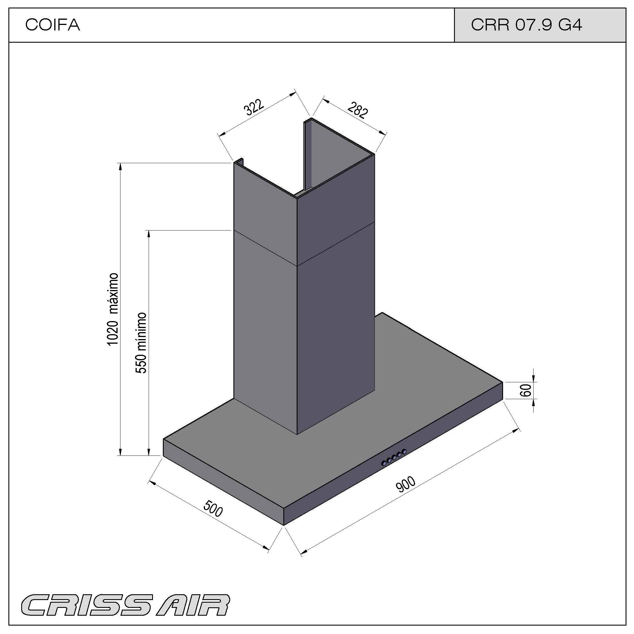 Coifa de Parede CRR 07.9 G4