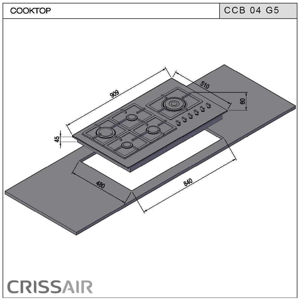 Cooktop a Gás CCB 04 G5