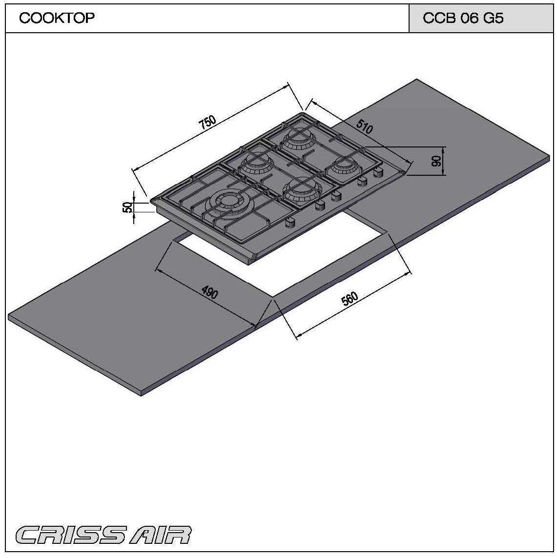 Cooktop a Gás CCB 06 G5