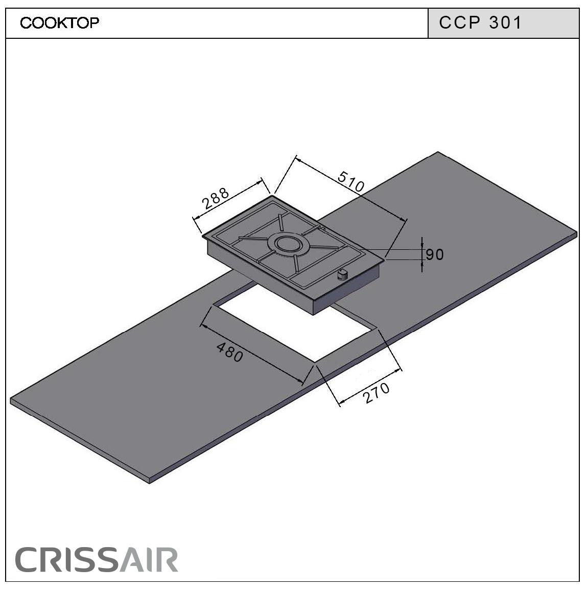 Cooktop a Gás CCP 301