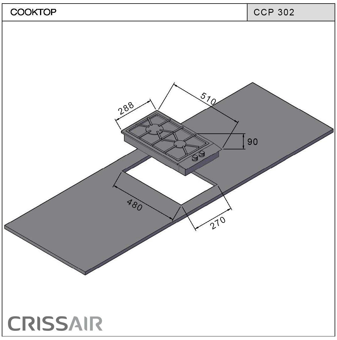 Cooktop a Gás CCP 302