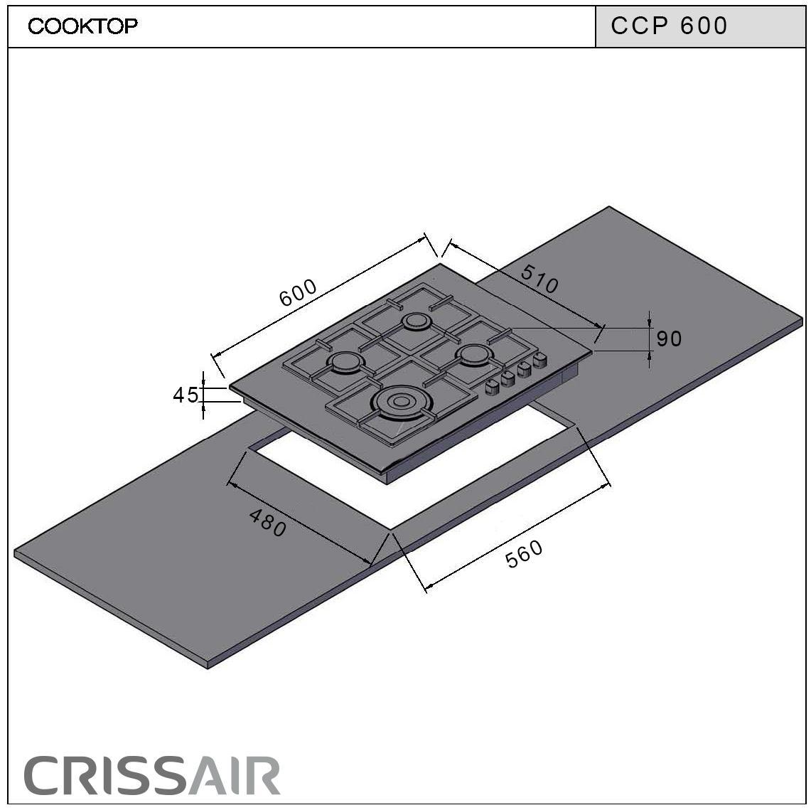Cooktop a Gás CCP 600