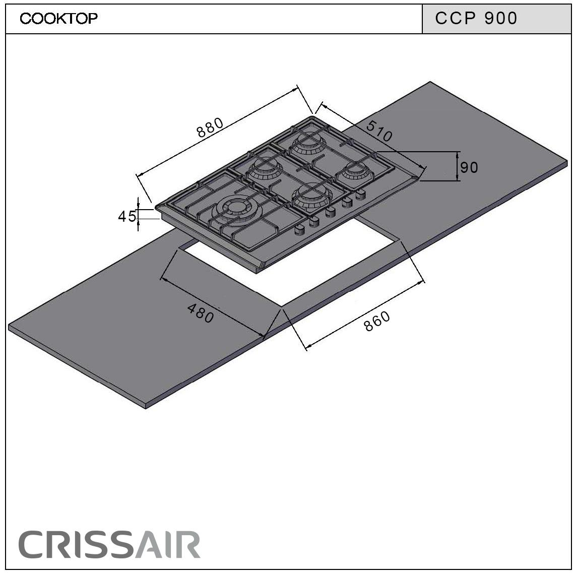 Cooktop a Gás CCP 900