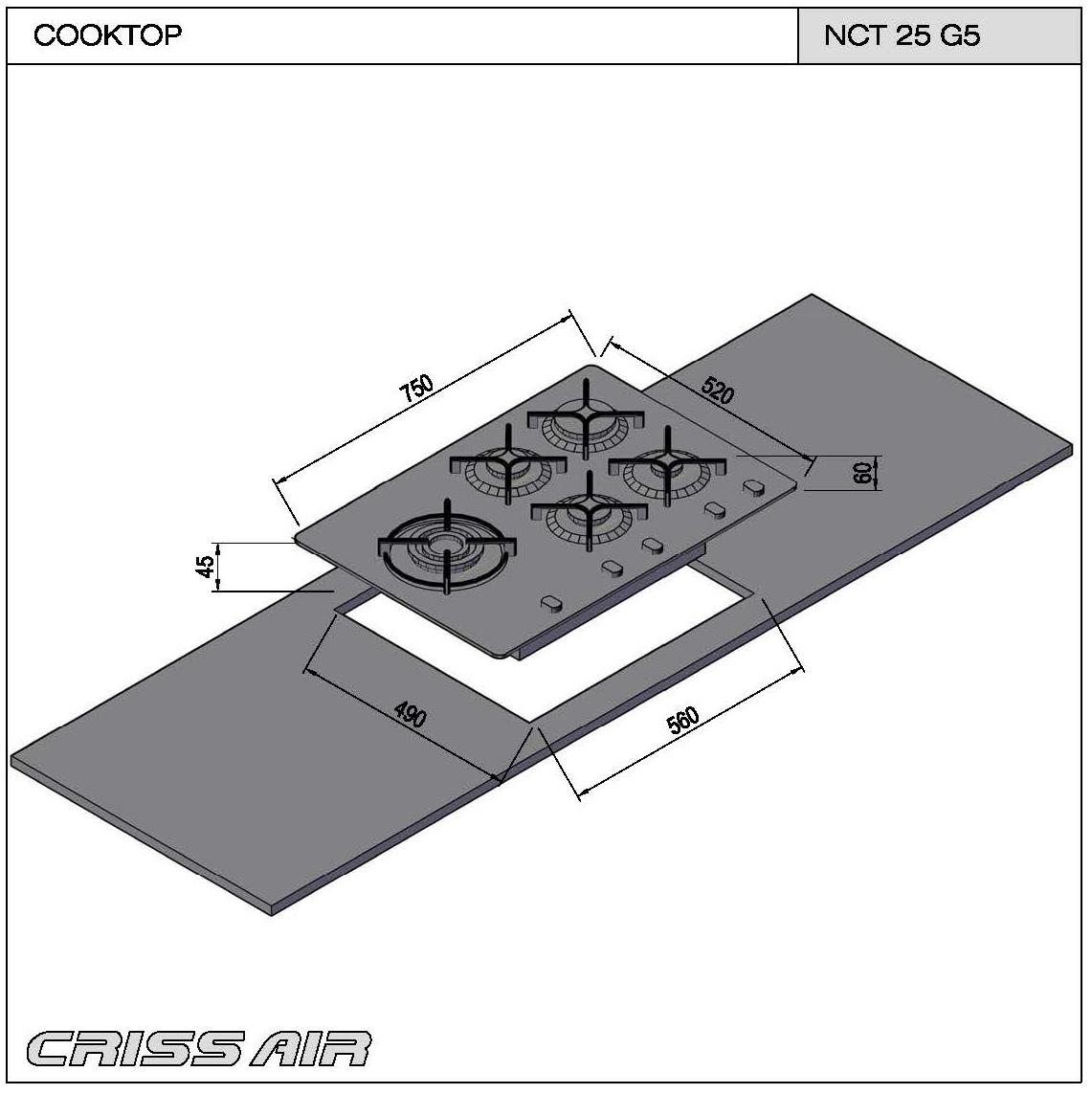 Cooktop a Gás NCT 25 G5