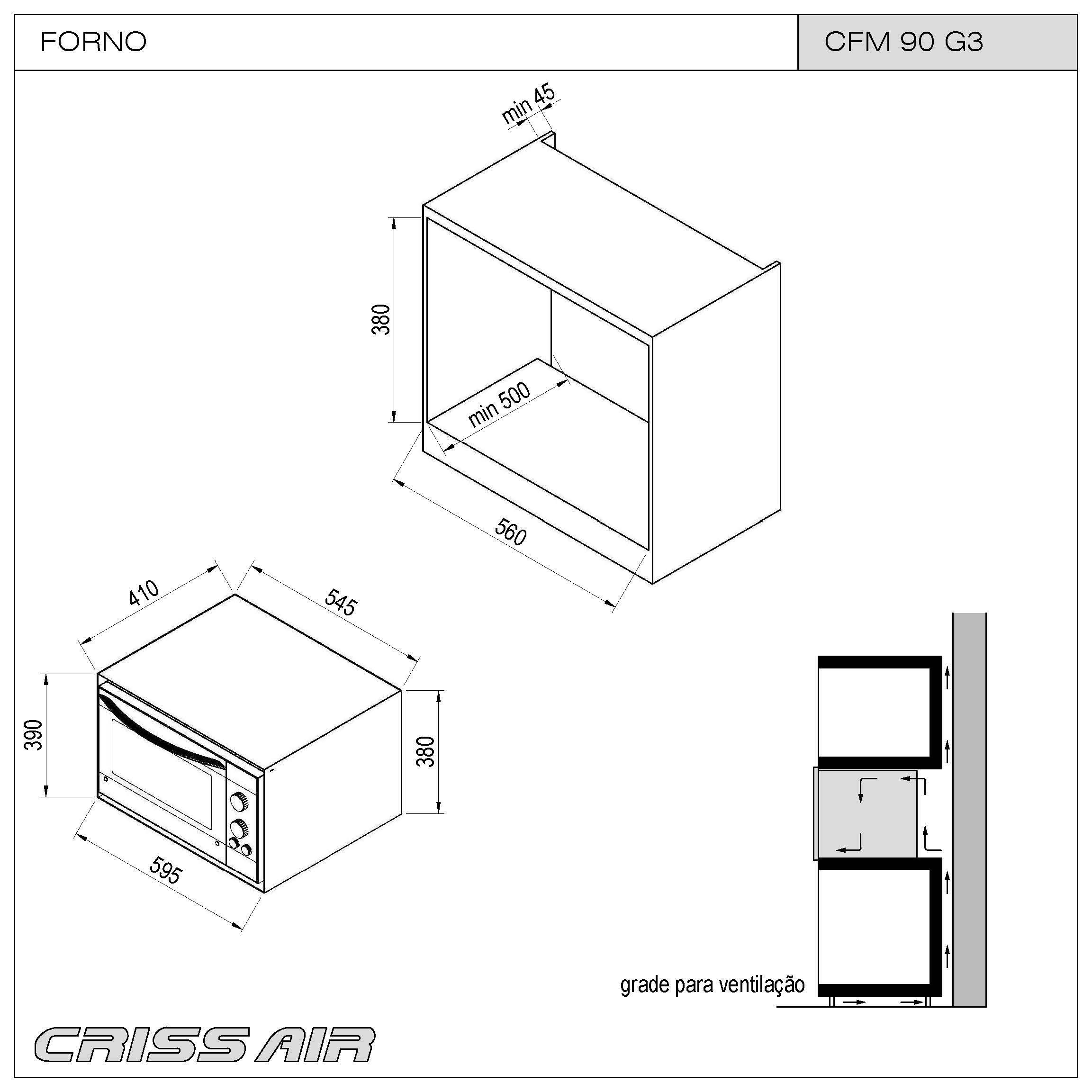 Micro-ondas CFM 90 G3