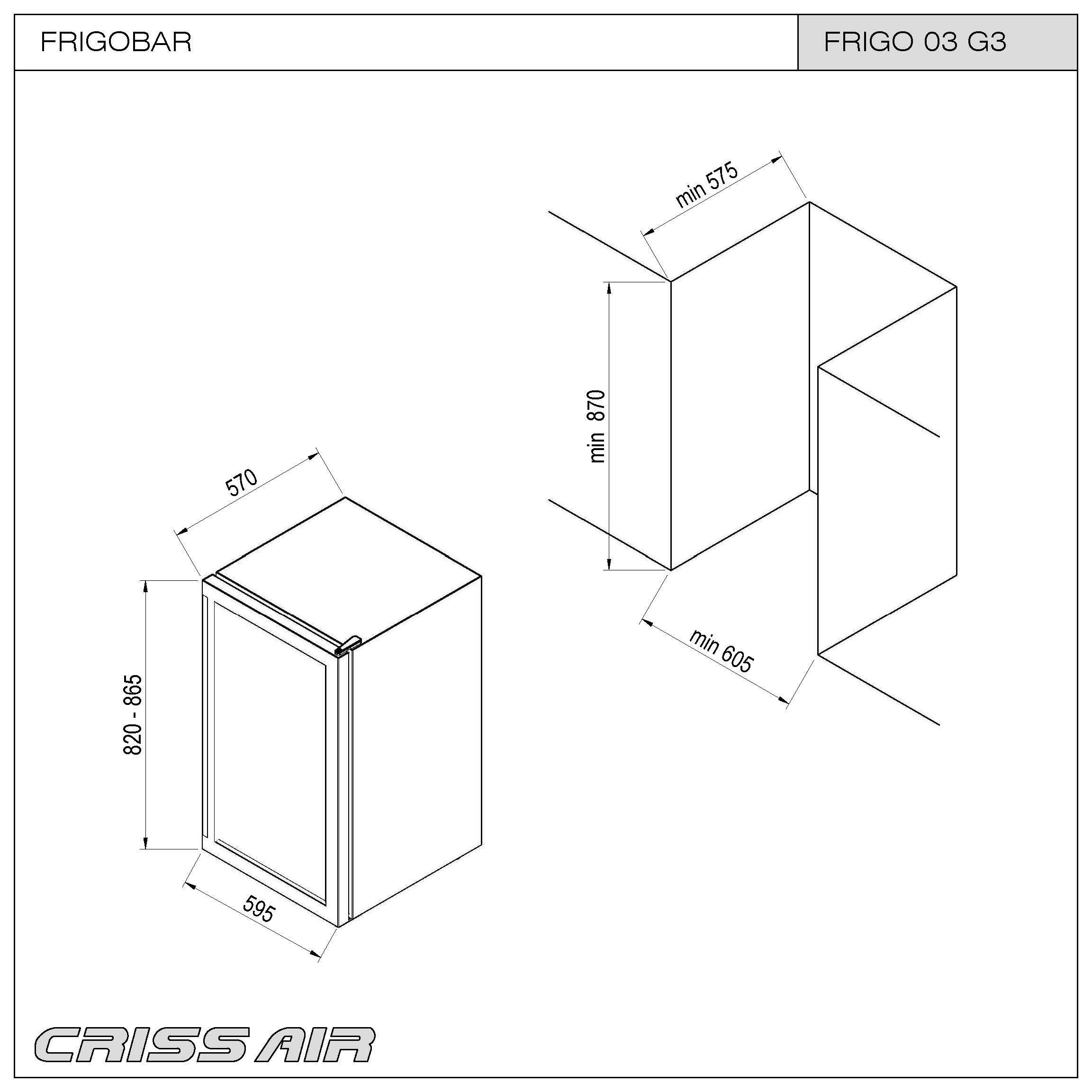 Frigobar FRIGO 03