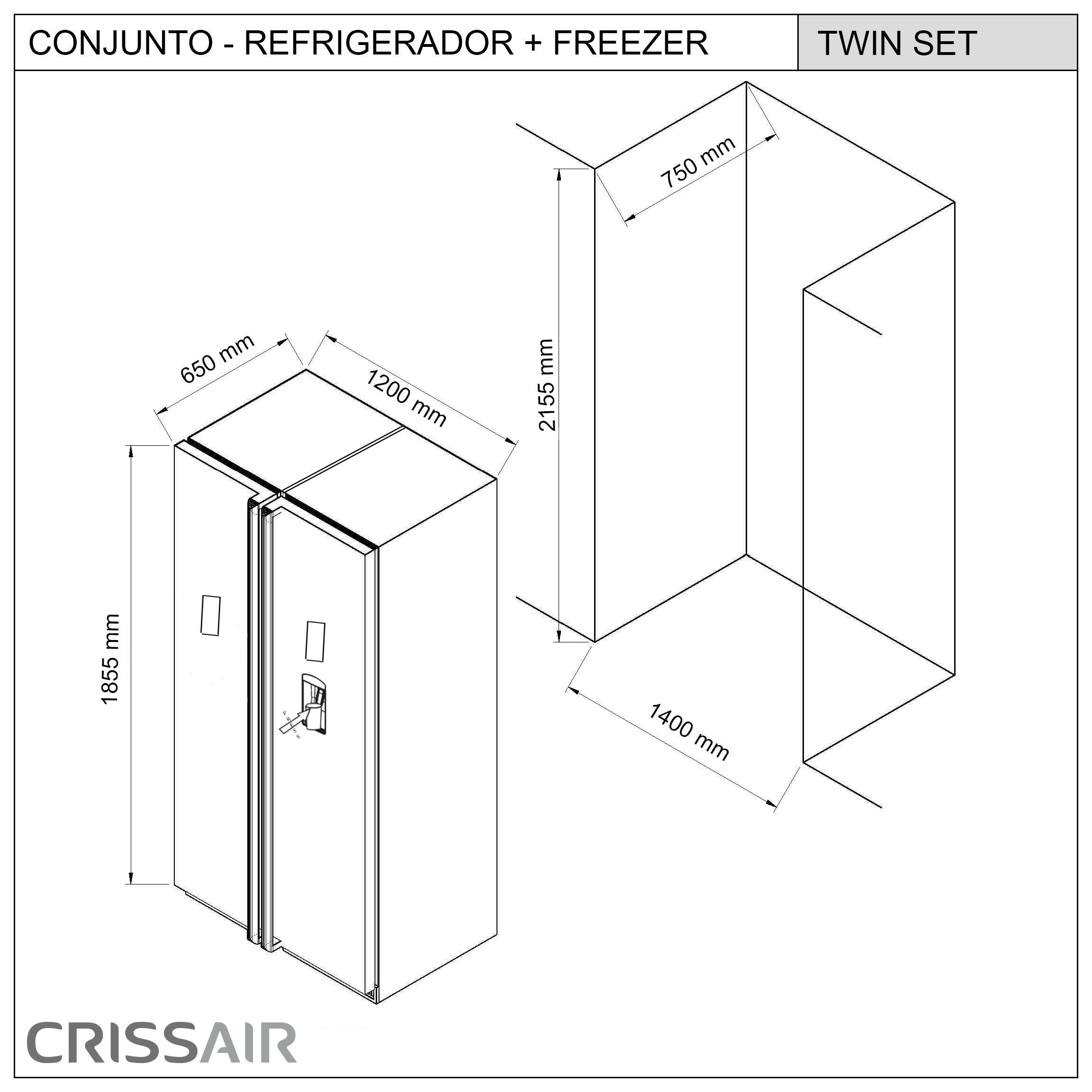 Refrigerador Twin Set